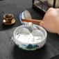 青花瓷茶洗陶瓷小号白瓷水洗碗盆栽功夫茶具茶道配件大号杯洗笔洗