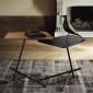 北欧小户型客厅办公室实木茶几家具铁艺沙发设计师创意多功能边几