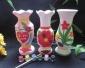 爆款陶瓷白胚自彩大号花瓶DIY益智玩具爱心花瓶等6个款式可混装