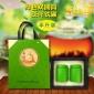 绿色双圆筒 茶叶铁罐 半斤装